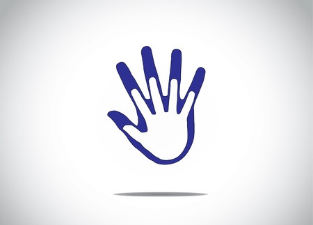 blue human hands protecting supporting each other family marriage companionship abstract concept