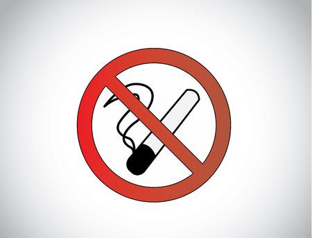no smoking health medical symbol icon illustration design unique art Vector