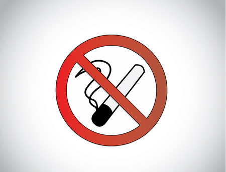 no smoking health medical symbol icon illustration design unique art