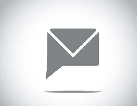 unique simple chat or messenger email client icon symbol with bright white background Ilustração