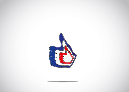 social media thumbs up double like paired up icon symbol concept illustration art Vector