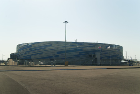 RUSSIA, SOCHY - SEPTEMBER 20, 2017. The Shayba Arena (formerly known as Maly Ice Palace) in Sochi Olympic Park. Redakční