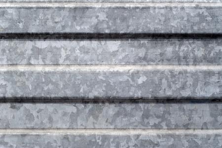 fundo, textura: superfície da folha de metal galvanizada perfilada