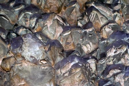splice of untreated amethyst crystals   版權商用圖片
