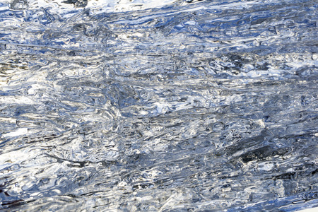 background, texture - wavy surface of melting ice on the skylight