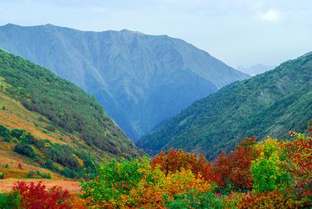 autumn sunny alpine landscape on the Caucasus