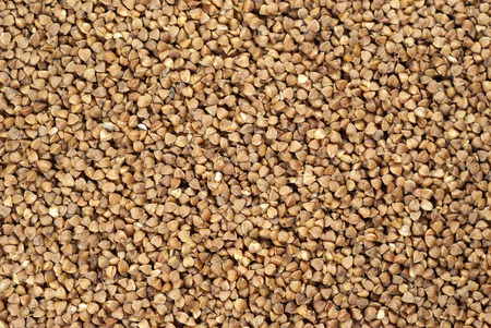 background, texture - buckwheat grain Stock Photo