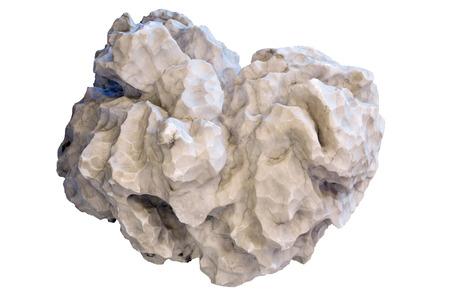natural white nugget gypsum alabaster isolated on white background