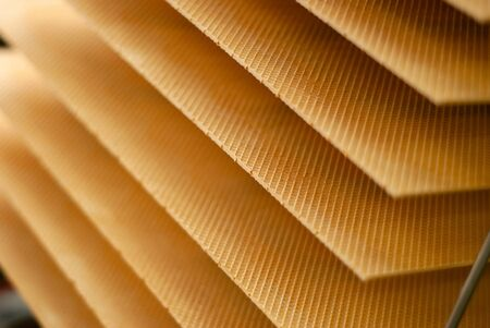 background: freshly baked wafer sheets on a conveyor of a confectionery factory Zdjęcie Seryjne