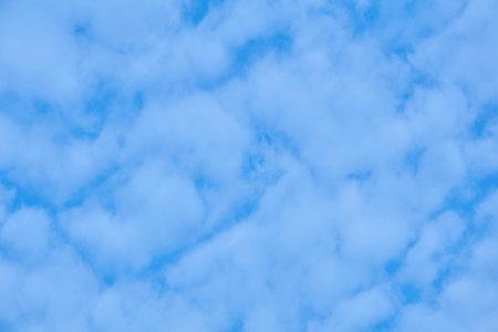 natural background, cloudscape - blue sky with light cumulus clouds