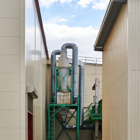 industrial cityscape - outdoor equipment in the backyard of workshops Reklamní fotografie
