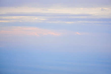natural background, morning seascape in gentle dawn mist