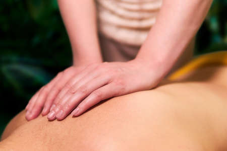 chiropractor woman hands during work close up
