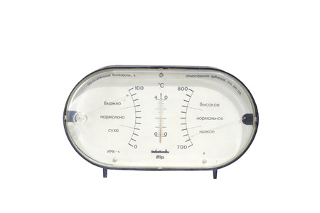 barometer: old barometer from the USSR Editorial