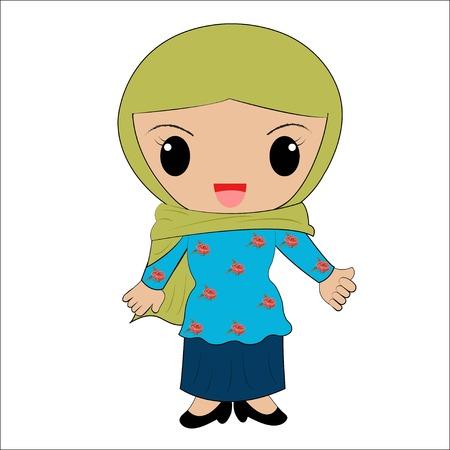 brunei: Brunei traditional costume, Asia,