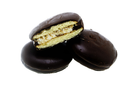 choco: choco pie on white background