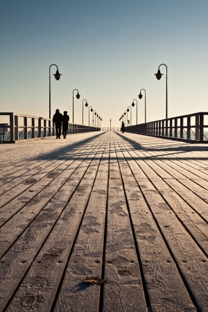 pier in the Baltic - Gdynia