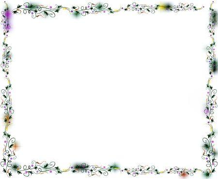 verdant: A floral vine frame.