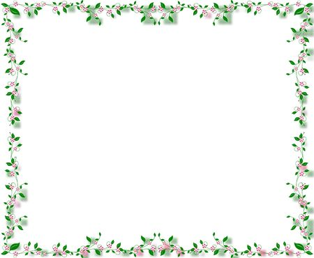 A delicate floral vine frame perfect for framing pictures or projects.