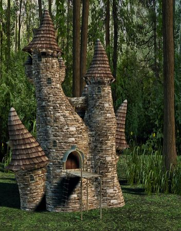 elven: A tiny elven castle deep in the mystical woods.