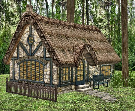 A little fairytale cottage in the woods.