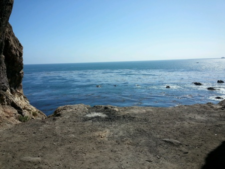 Looking out of cove to the Pacific