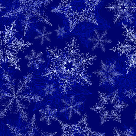 Snowflake Seamless Pattern Stock Vector - 17875501