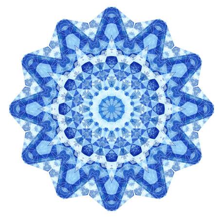 Triangular Ornamental Round Lace. Vintage Vector Illustration. Vector
