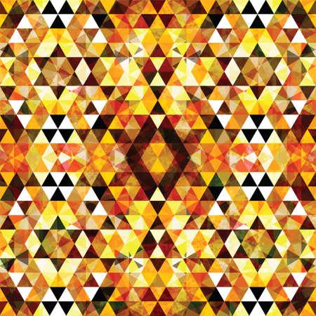Triangular Mosaic Orange Background. Abstract Vector Illustration.? Vector