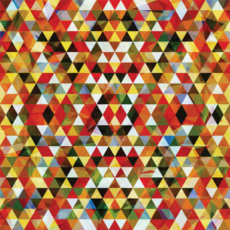 Triangular Mosaic Colorful Background. Abstract Vector Illustration.? Illustration