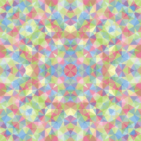 shrill: Triangular Mosaic Colorful Background. Abstract Vector Illustration.Œ