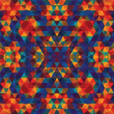 Triangular Mosaic Colorful Background. Abstract Vector Illustration.ΠVector