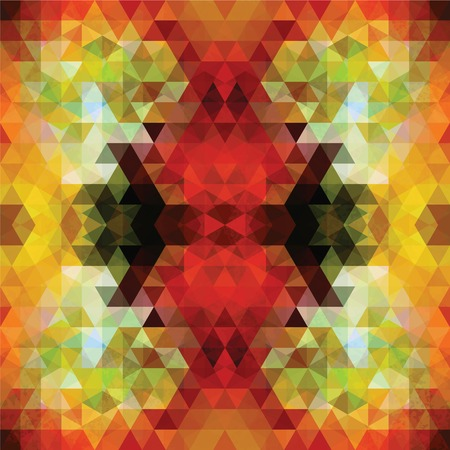 Triangular Mosaic Red Background. Abstract Vector Illustration.ΠVector