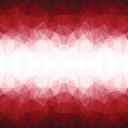 Red Mosaic Background. Abstract Vector Illustration.? Vector