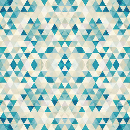 repeated: Triangular Mosaic Colorful Background. Abstract Vector Illustration.? Illustration
