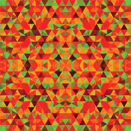 Triangular Mosaic Colorful Background. Abstract Vector Illustration.? Vector