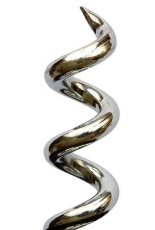 Cork screw isolated on white photo