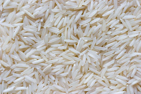 basmati: Raw basmati rice Stock Photo