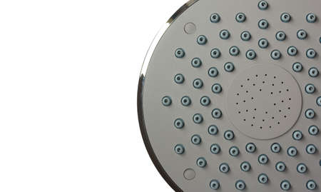 shower head isolated on white with space for text