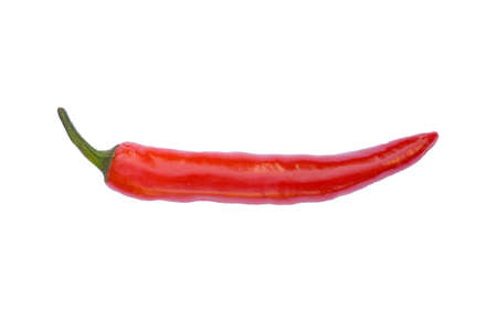 hottest: Red Chilli pepper isolated on white