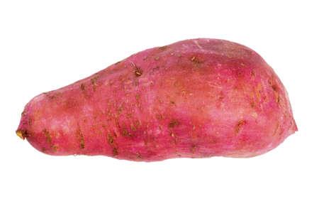 spud: sweet potato isolated on white