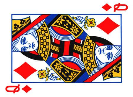 queen diamonds: Regina di diamanti carte da gioco