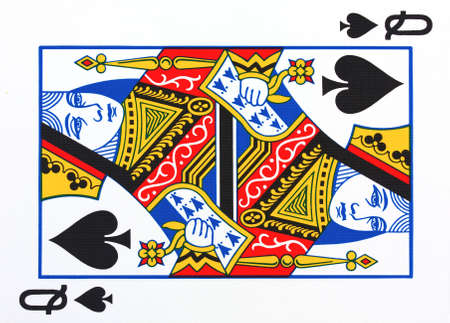 queen of hearts: queen of spades playing card