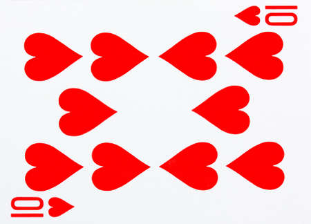 Ten of hearts playing card