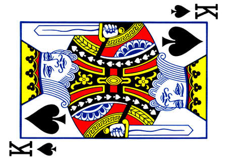 spade: King of spades playing card Stock Photo