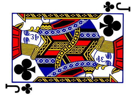 Jack of clubs playing card Stock Photo