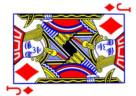 Jack of diamonds playing card Stock Photo
