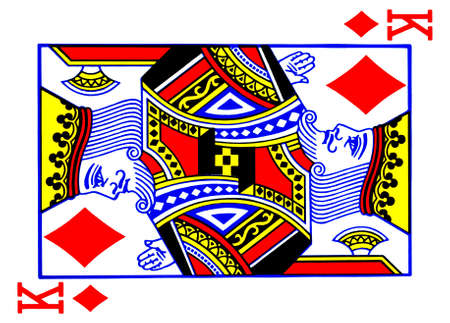 kartenspiel: K�nig der Diamanten Spielkarte