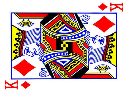 jeu de carte: Roi des diamants carte � jouer Banque d'images