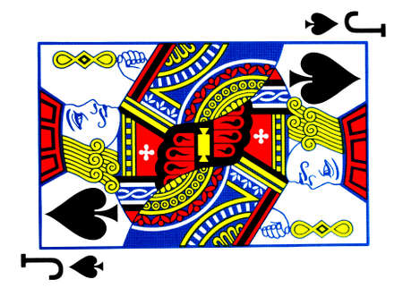 Jack of spades playing card Stock Photo